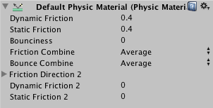 Physic Material のパラメータ